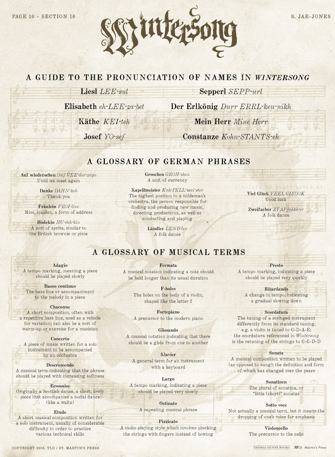 Wintersong Pronunciation Guide Journey Through Fiction