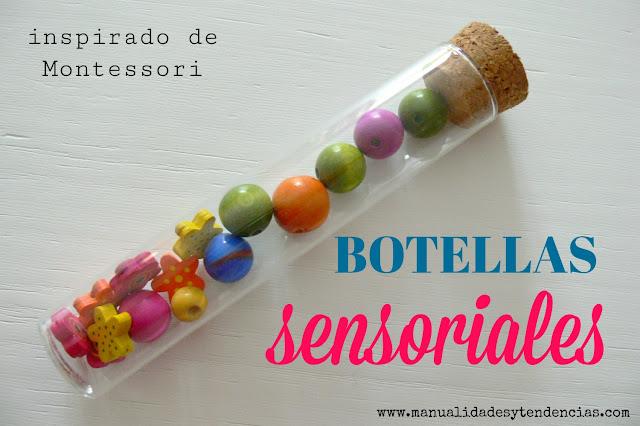 botellas sensoriales Montessori en casa
