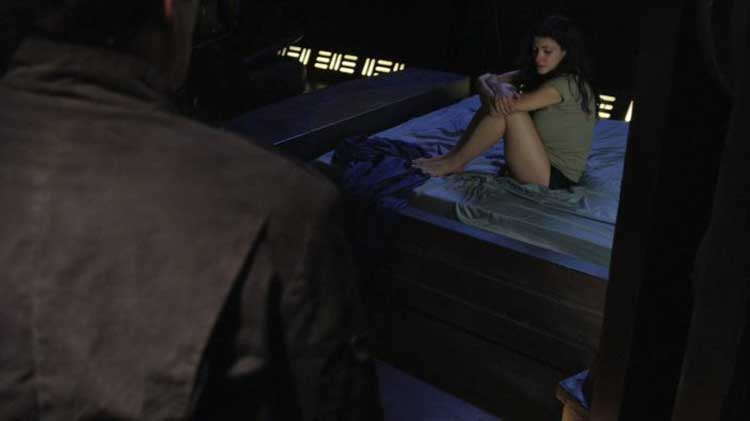 "Julia Benson as James in the SGU episode ""Pain"""