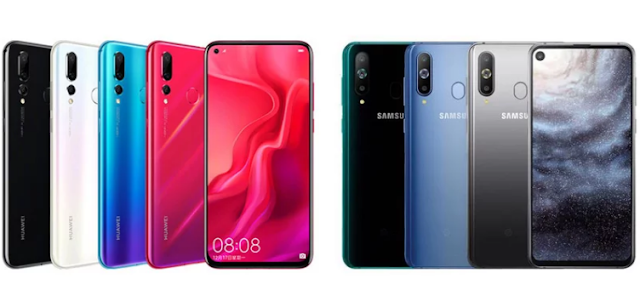 Nova 4: Huawei nova 4 versus Samsung Galaxy A8s