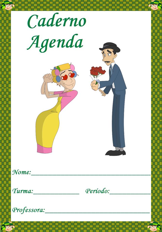 Capa de Caderno Agenda