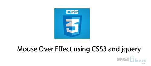 Image Mouse Over Effect using CSS3 and jQuery