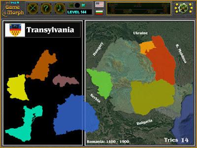 Romania Historical Regions Puzzle