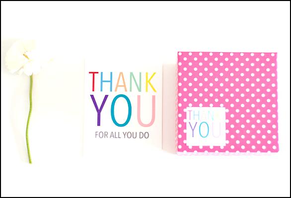 thank you pocztówka