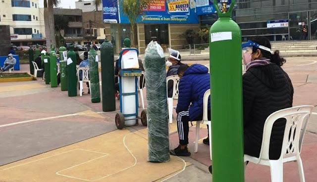 Oxigeno gratis, recarga de oxigeno medicinal gratis en Lima