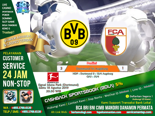 Prediksi Dortmund Vs Augsburg - ituBola
