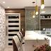 Cozinha sem mesa com cristaleira e parede de gesso 3D!