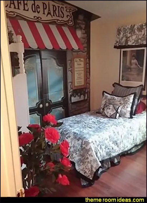 Paris Cafe prop Paris Cafe bedroom ideas French country bedroom decorating Paris decor