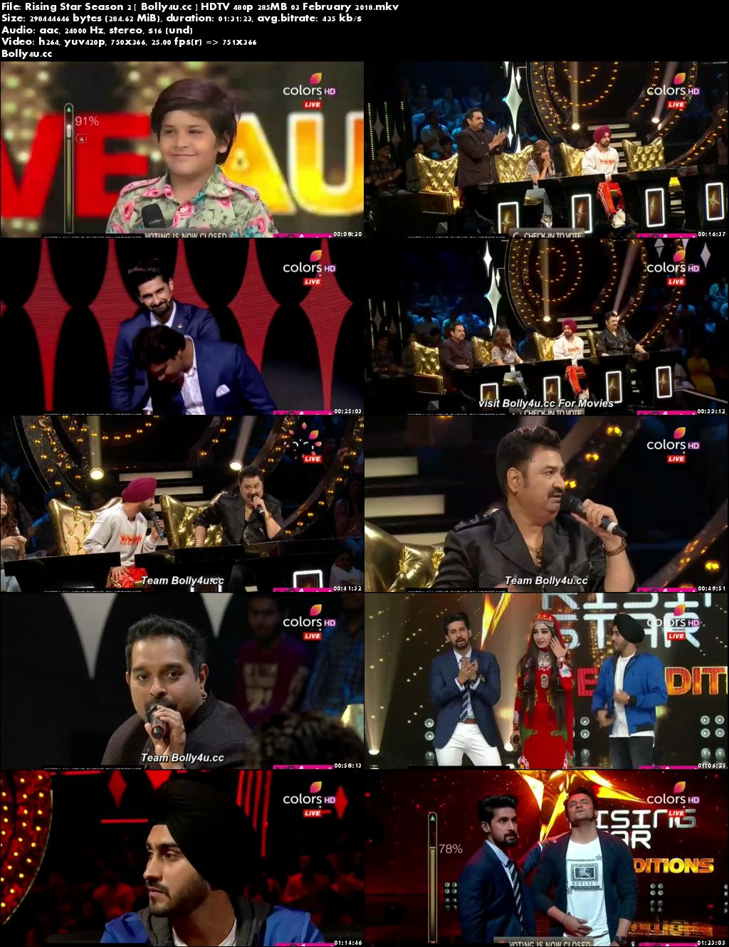 Rising Star Season 2 HDTV 480p 280MB 03 February 2018 Download