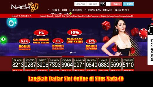 Langkah Daftar Slot Online di Situs Nada4D