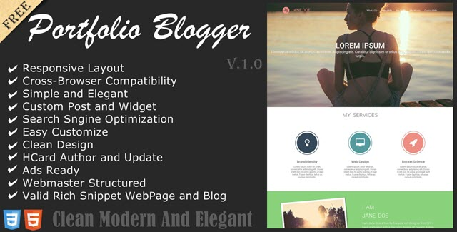 Download Service portfolio responsive and SEO friendly blogger template.