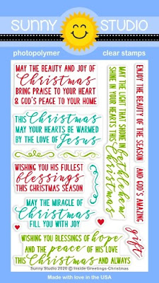 Sunny Studio Stamps Inside Greetings Christmas Card Sentiments 4x6 Clear Photopolymer Stamp Set