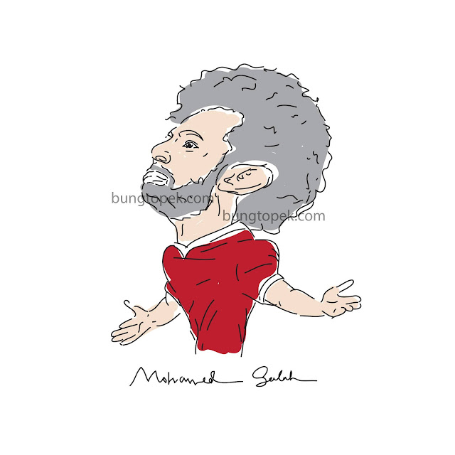 Mo Salah in Caricature Sketch