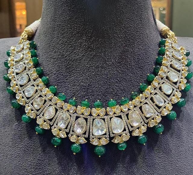 Navaratan Polki Chokers by Satyanarayana Jewellers