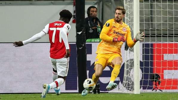 Bukayo Saka Stars as Arsenal Breeze Past Eintracht