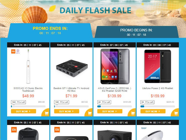 Gearbest Summer Rock Sale Daily Flash Sale