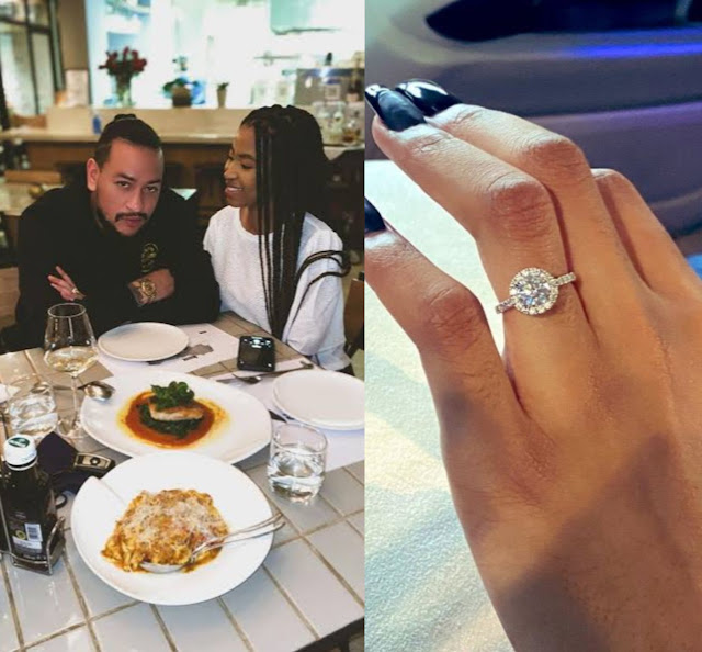 South African Rapper AKA Officially engaged to Nelli Tembe as he shares pictures of her engagement ring