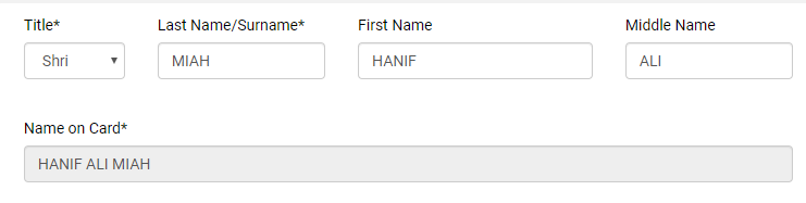 Correct way to types your name on PAN Card