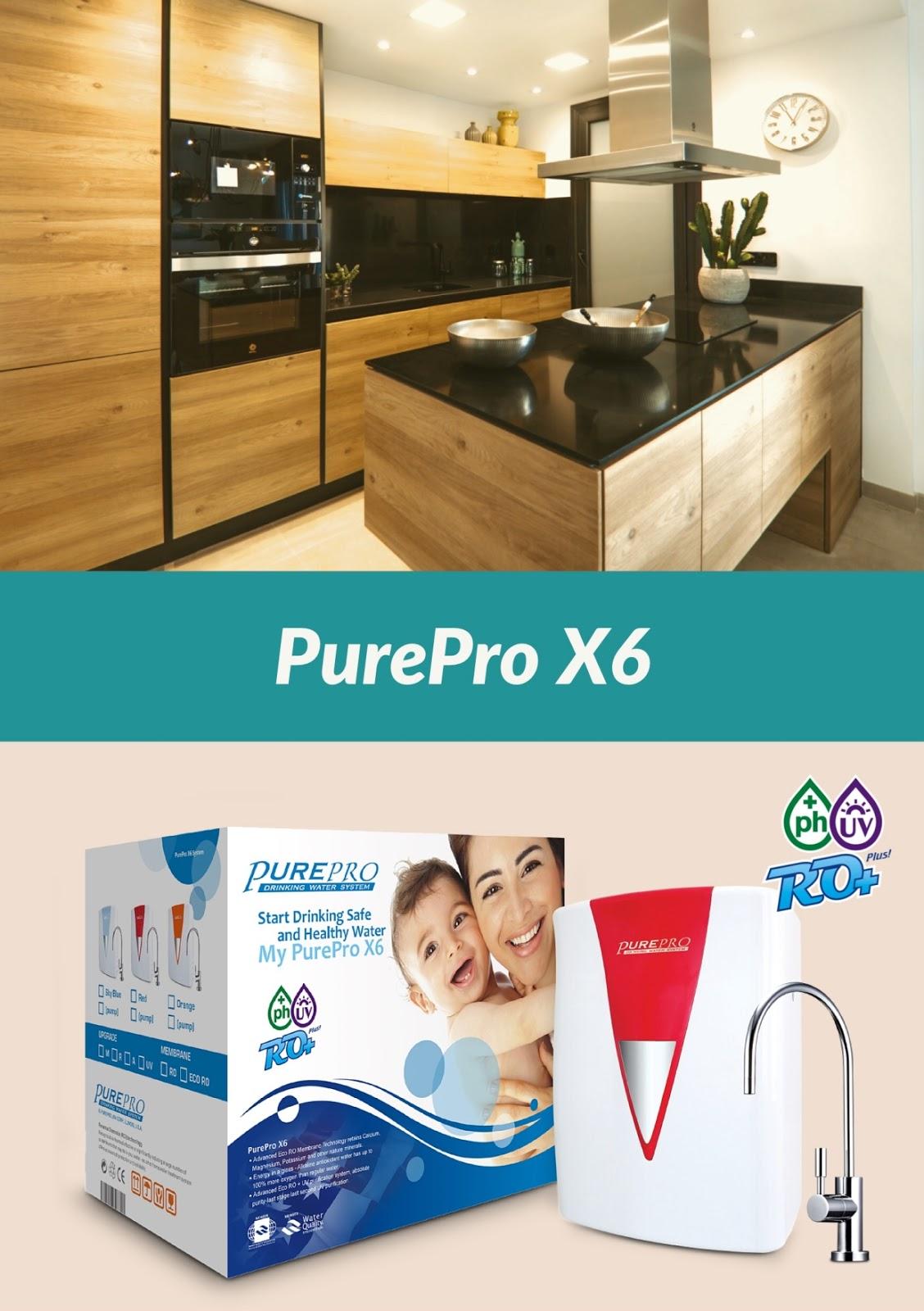 美國PurePro® X6紫外線鹼性RO活水機: 十大最佳淨水器PurePro X6(法拉利紅)