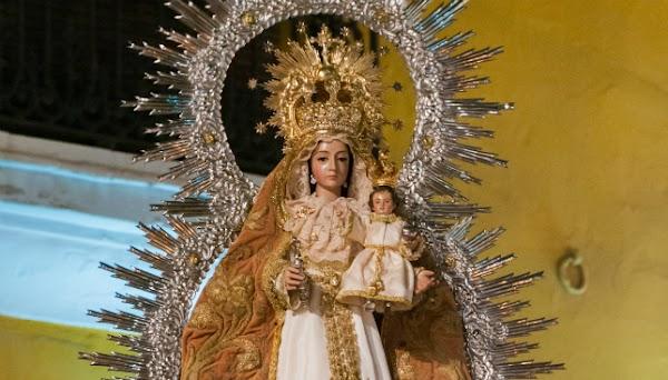 Horario e Itinerario Procesión de Nuestra Señora del Prado de la iglesia colegial del Divino Salvador. Sevilla 09 de Noviembre del 2019