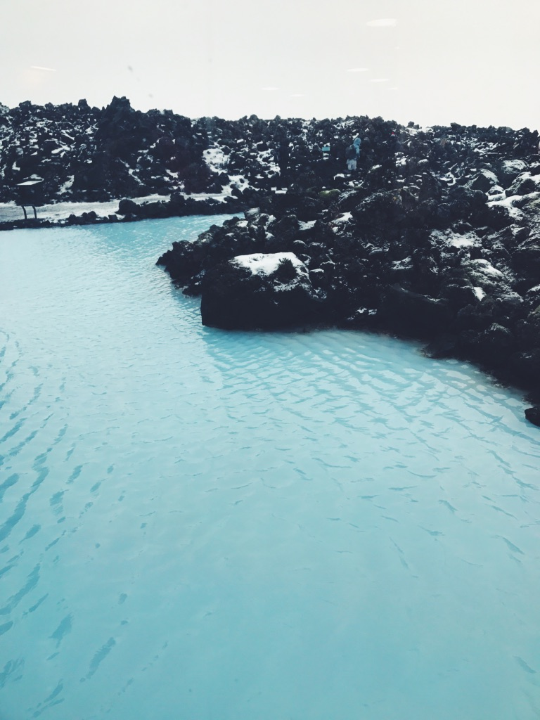 making restorations soaking blue lagoon
