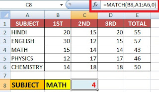 Excel Index and Match Function use with Example in Hindi