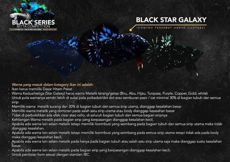 Kategori Kontes Cupang Avatar / Black Star Galaxy - Ikanhiasku.net