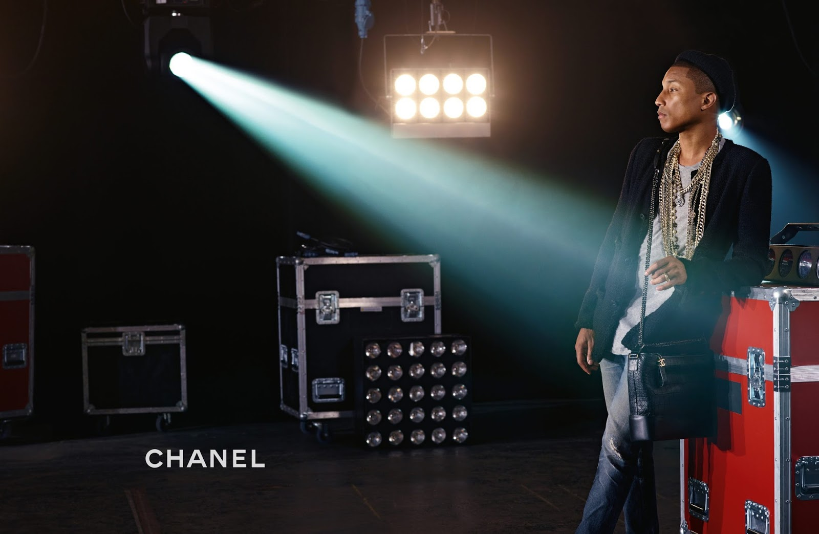 Pharrell Williams in Chanel's Gabrielle Ad Bag Campaign