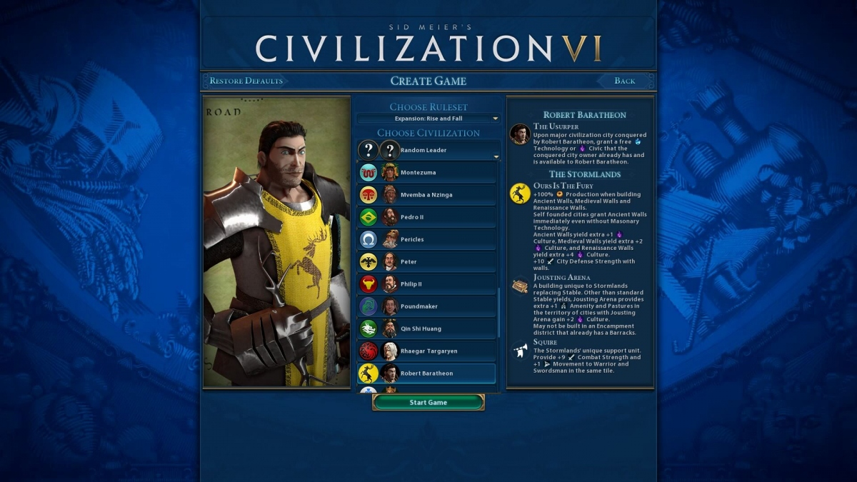 Mods for new civilizations