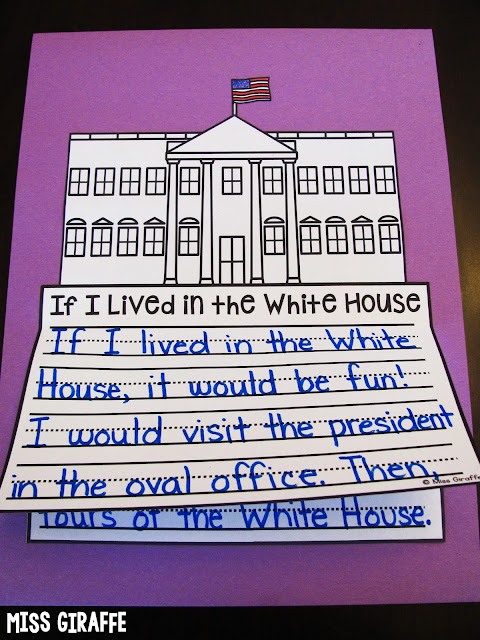 If I Lived in the White House writing activities and other fun Presidents Day activities and ideas