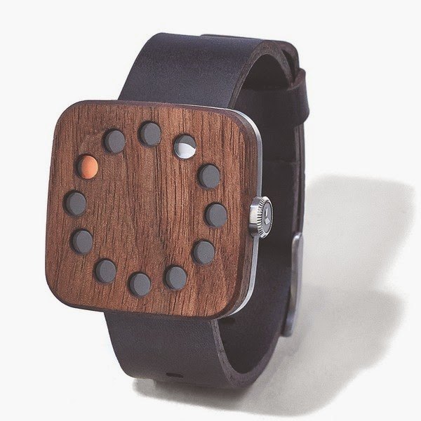 Walnut Watch Square by Groovemade