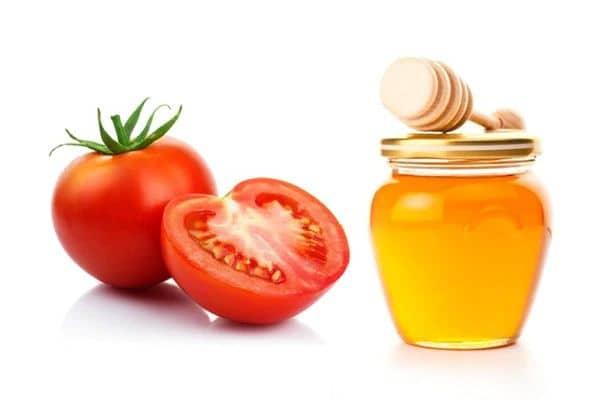 resep masker madu dan tomat untuk mengatasi jerawat dan menyamarkan bekas noda di wajah