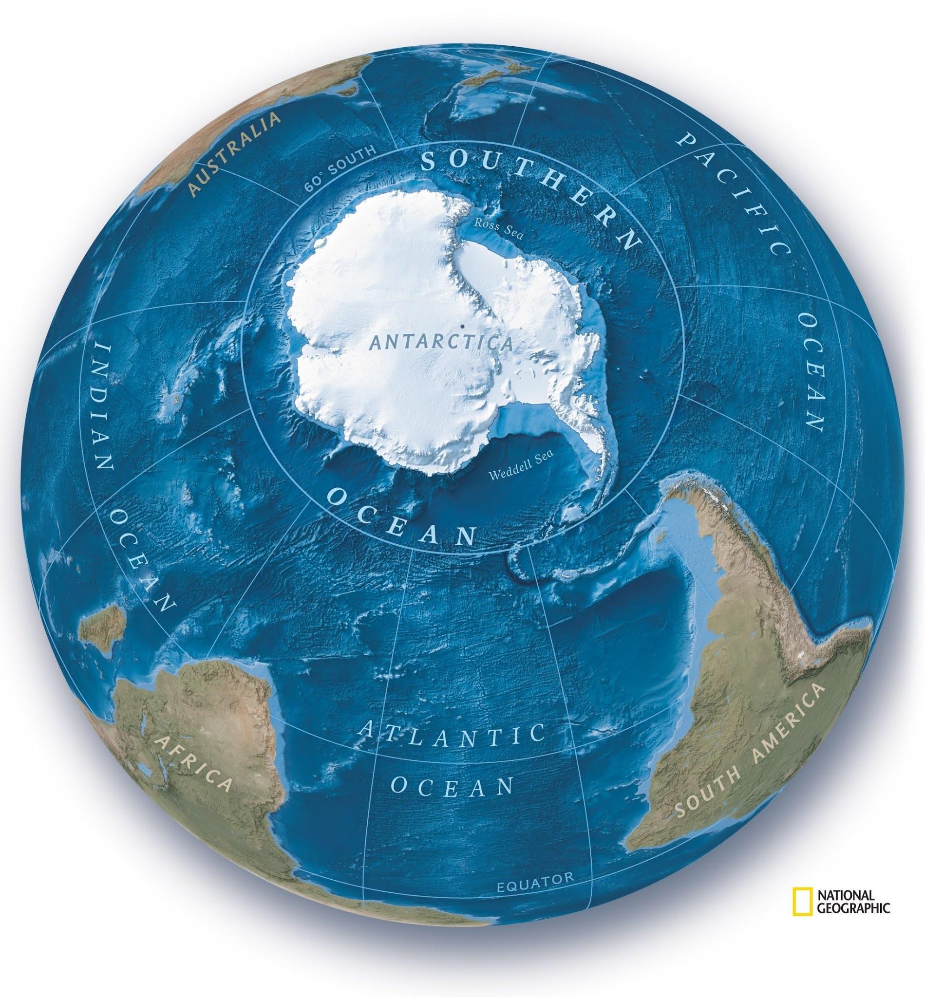 Oceano Antártico: National Geographic reconhece o quinto oceano