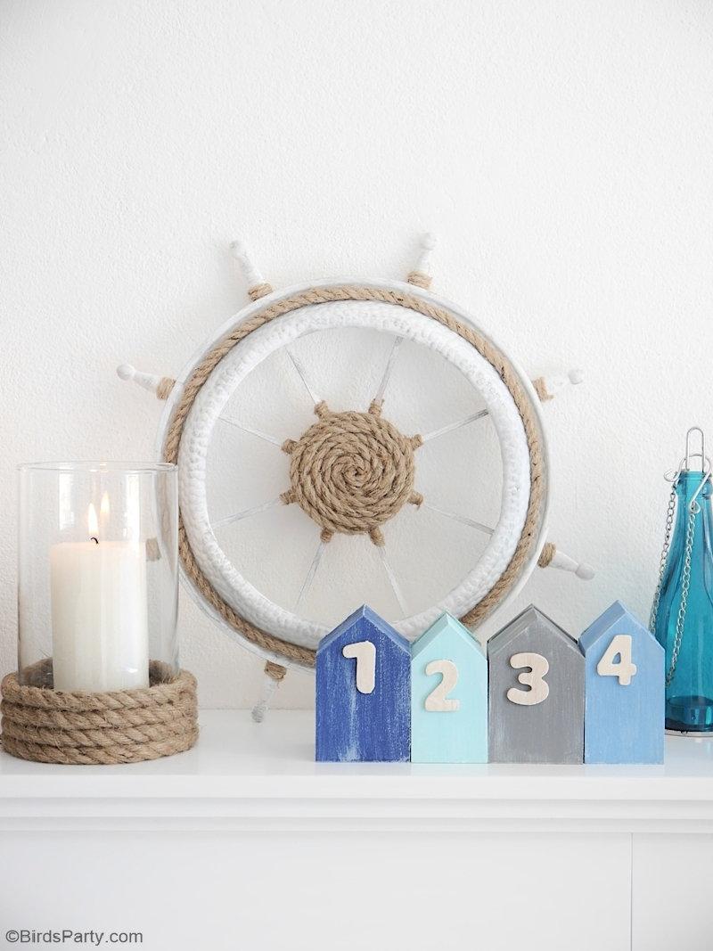 DIY Décor Nautique - projets d'artisanat faciles pour décorer votre maison, une table estivale, apéro ou espace de fête anniversaire! by BirdsParty.com @birdsparty #diy #nautique #deco #docorationestivale #aperoestival #tableestivale #tablenautique
