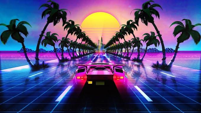 Papel de Parede Retro Lamborghini
