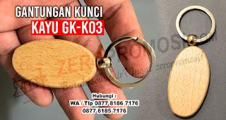 Gantungan Kunci Kayu - Souvenir Ganci GK-K03 Termurah