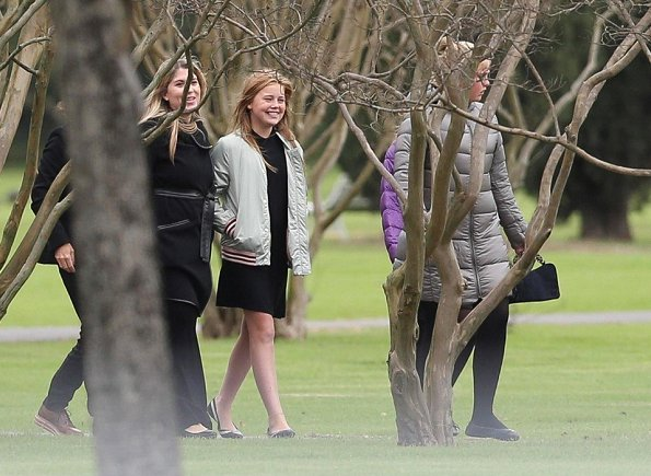 Queen Maxima and King Willem-Alexander, Princess Catharina-Amalia, Princess Alexia, Princess Ariane of The Netherlands and Maria del Carmen Cerruti