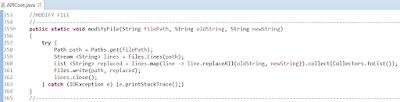 Java 8 Stream ile Dosya İçerisinde Anlık String Bulma ve Değiştirme İşlemi