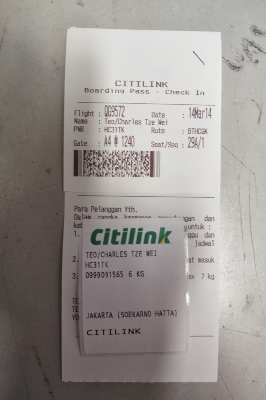Charles Ryan S Flying Adventure Ferry Ride To Batam Citilink And A