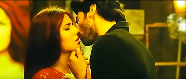Recent Bollywood movie Fitoor may have bombed in box office, but it continues to be in news for wrong reasons.  A video clip which shows the lead pair Katrina Kaif and Aditya Roy Kapoor locking  lips has gone viral.