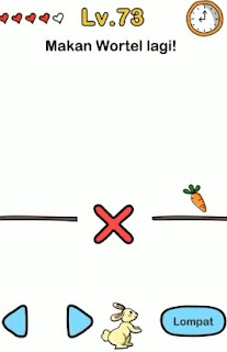 Level 73 : makan wortel lagi brain out