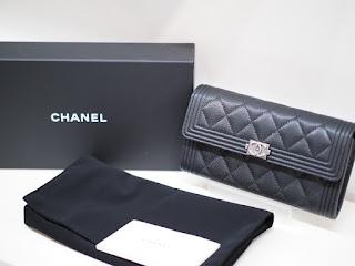 シャネルの新品財布(ウォレット)をお買い取り致します 税抜き定価(128,000円)の87%でお買い取り致します