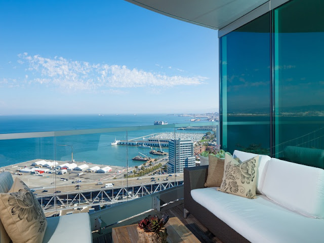 Picture of terrace furniture on the balcony with the bay view