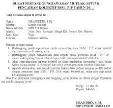 Contoh Pembuatan Surat Pertanggungjawaban Mutlak (SPTJM)