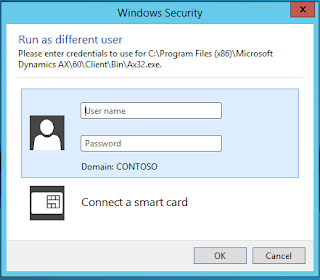 Windows Security username and password authentication window.