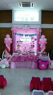 dekorasi standing,huruf dan backdroop untuk acara ulang tahunn dengan tema helo kity