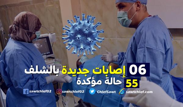 06 إصابات جديدة بفيروس كورونا بالشلف