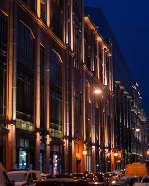 Ночь улицы Санкт-Петербурга СПб здания фасады