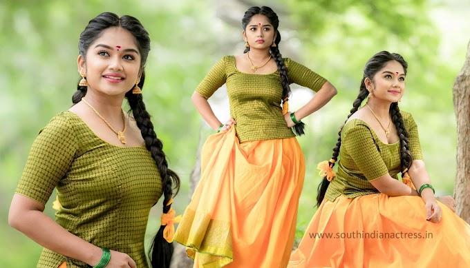 Actress Preethi Sharma Photos In Traditional Pavadai Sattai