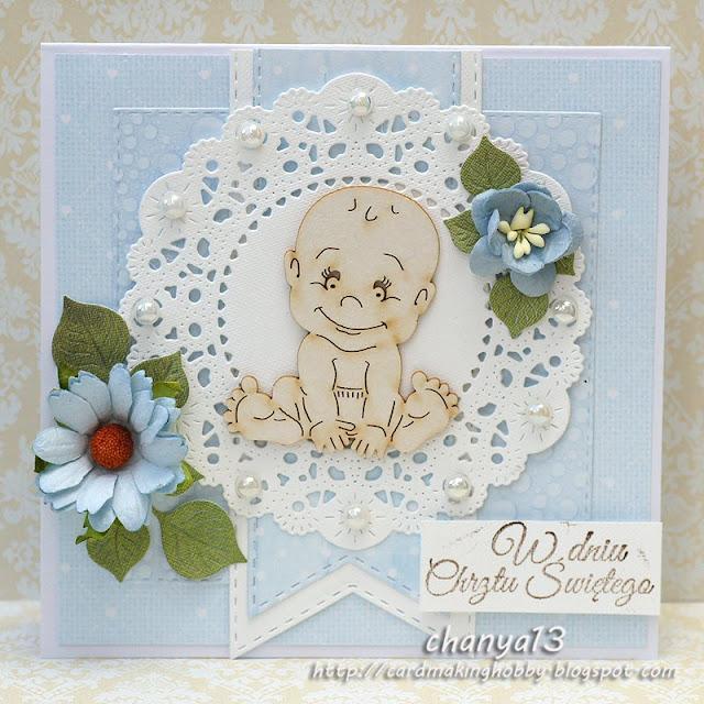 kartka z okazji chrztu św. dla chłopca